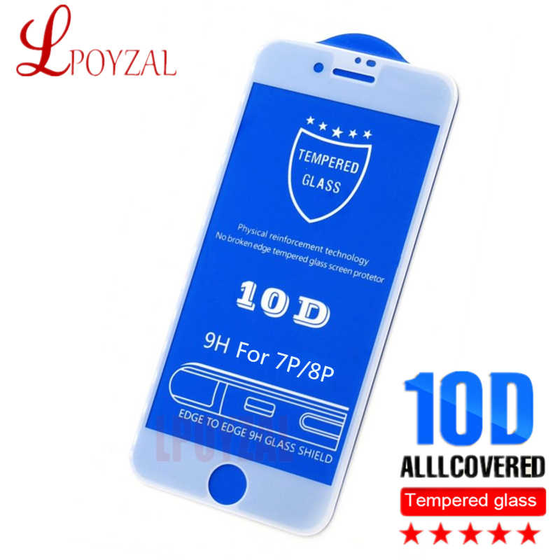 LPOYZAL 10D Full Cover Tempered Glass For iPhone X XS Max XR 9H Protective Glass for iphone 6 6S 7 8 Plus Screen Protector film