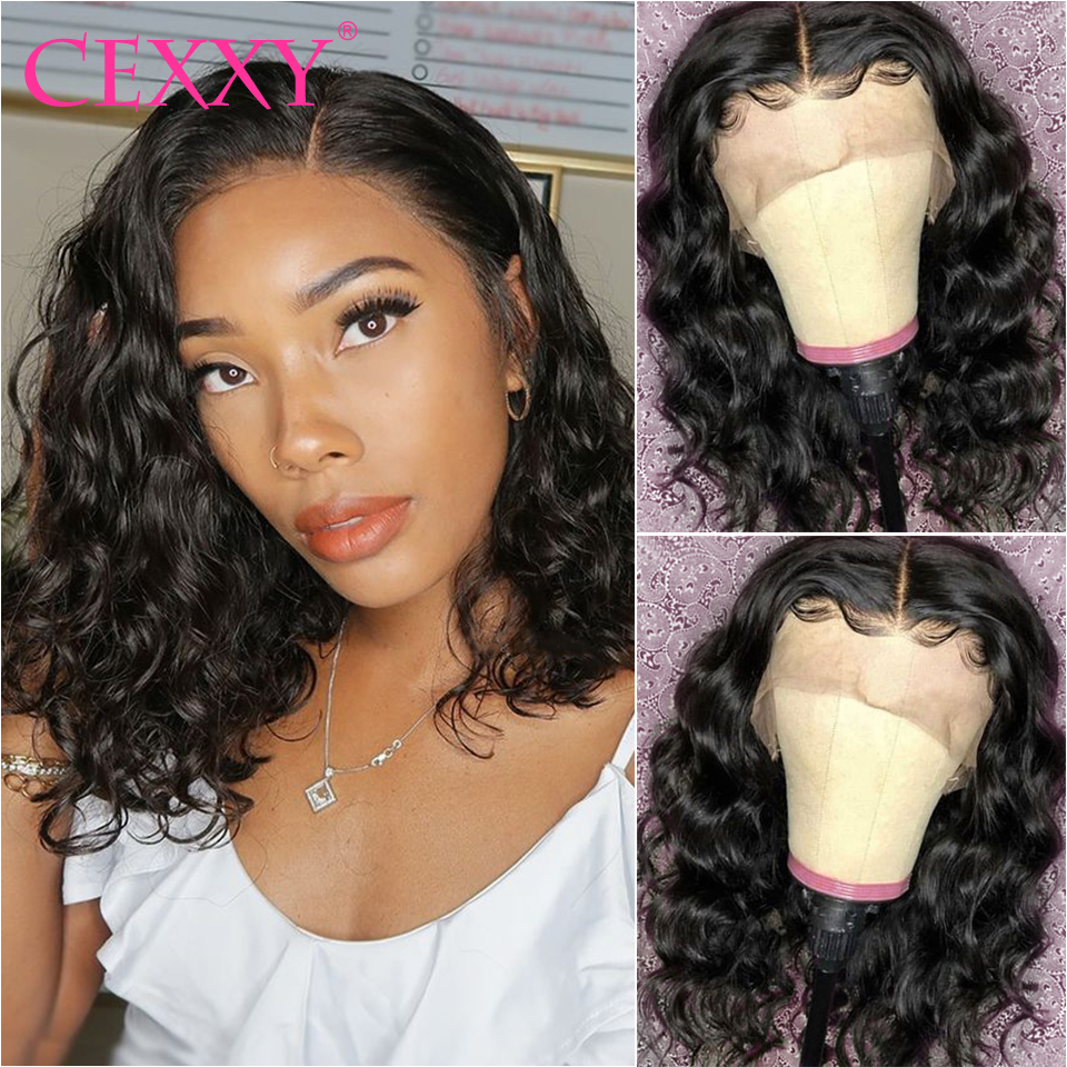 CEXXY Lace Front Human Hair Wigs Brazilian Natural Wave Human Hair Wig Pre Plucked with Baby