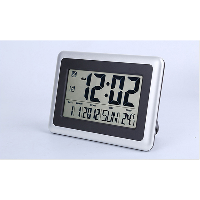 Digital Wall Clock Desk Clock Alarm Clock with Calendar Date Week