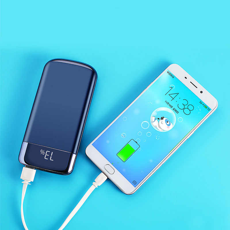 30000mah Power Bank External Battery PoverBank 2 USB LED Powerbank Portable Mobile phone Charger for Xiaomi MI iphone 7 6 X 8 XS