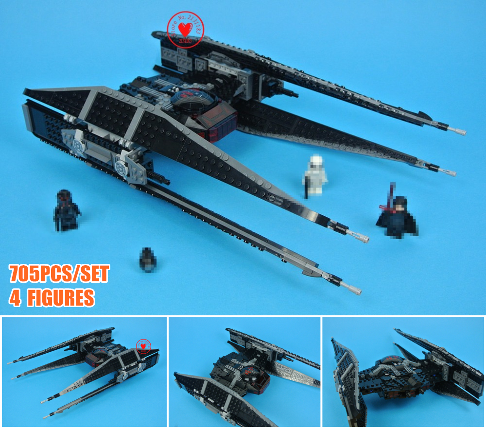 New Tie Model x-wing Fighter fit legoings star wars figures Starwars model Building Blocks Bricks diy Toys 75179 Gifts kid set oleku hotsale star wars resistance x wing tie advanced prototype micro fighter starwars the wookiee gunboat building blocks toys