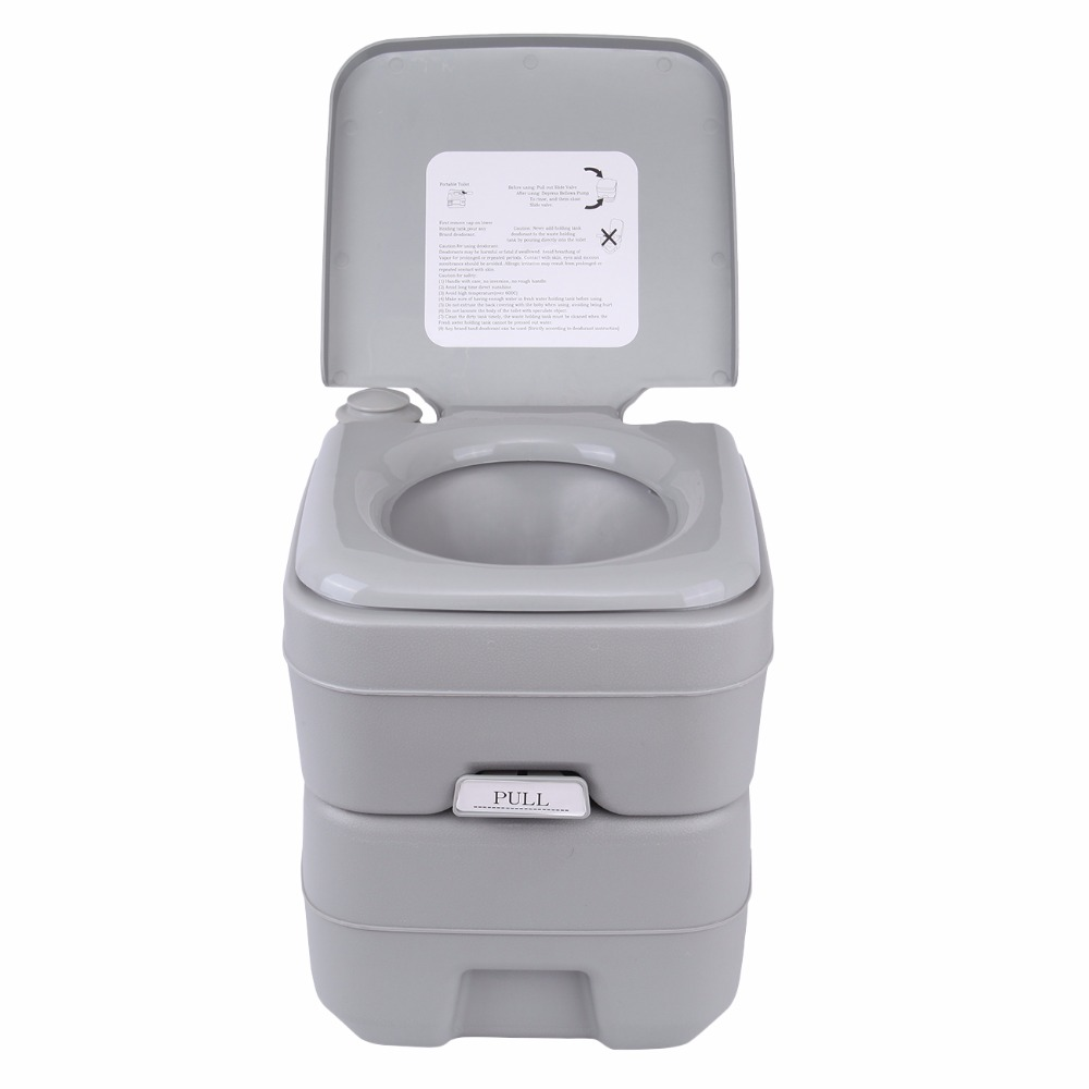(Ship from EU) 20L Portable WC Toilet Flush Camping Travel Outdoor Hiking Potty