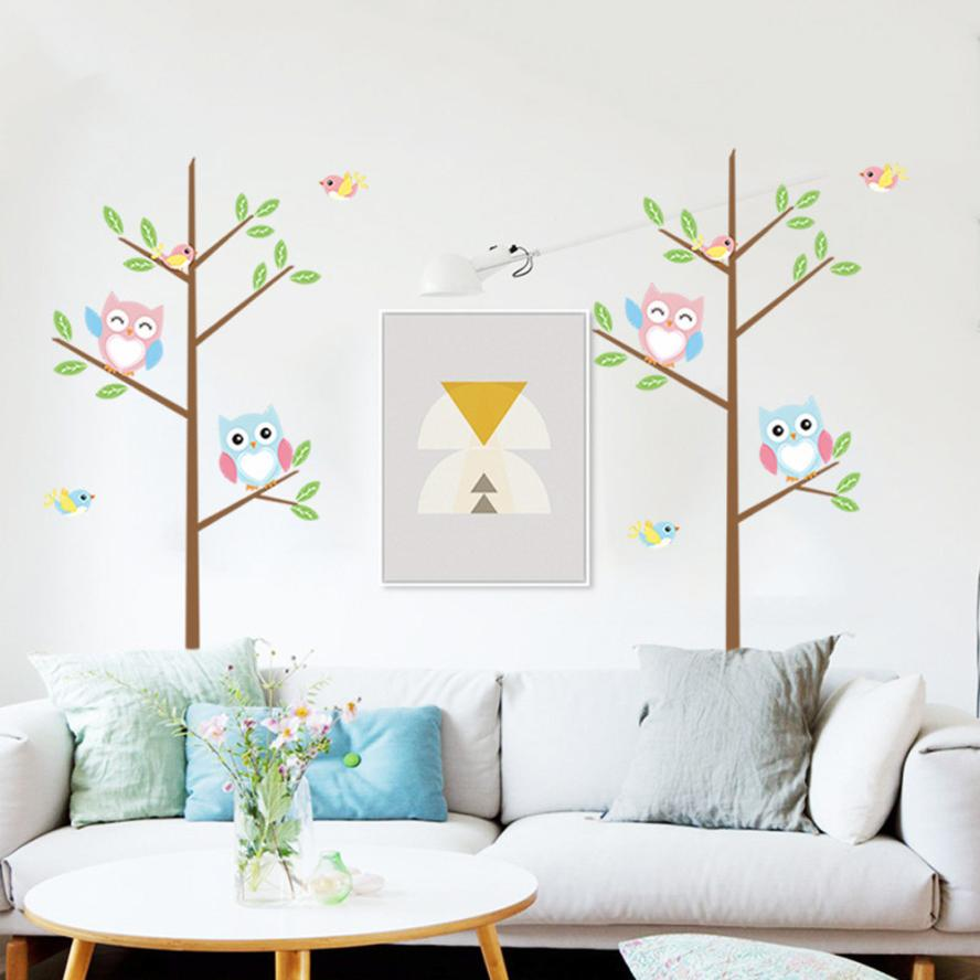 compare prices on designer wallpaper modern online shoppingbuy  -  kids cartoon owl diy mural art decals wall stickers home wallpaperroom decor decoration stick