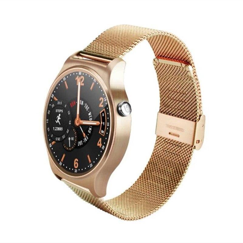 Fashion Style GW01 Smart Watch Bluetooth 4.0 IPS Round Screen Life Waterproof Sp