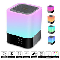 3pcs/lot USB rechargeable dimmable Bluetooth Speaker Music LED night light 48 colors adjustable bluetooth desk LED night lamp