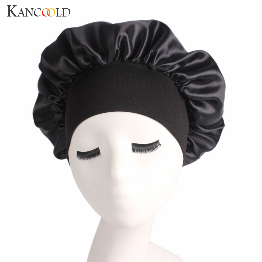 KANCOOLD Hat Woman Satin Solid Wide-brimmed Hair Band Sleep Cap Chemotherapy Hat Hair High Quality Hat Woman 2018NOV15
