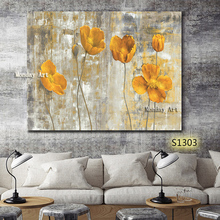 Home Decoration aritist hand painted flower Canvas Paintings pictures Wall Art painting Modern artwork Pictures for living room