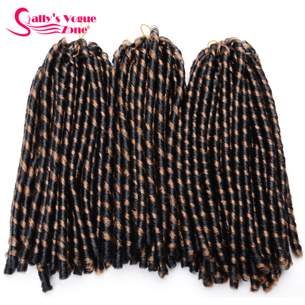 24 Roots Faux LocsCrochet Hair 18 Crochet Faux Lock Dreadlock Crochet Braids hair Extensions Synthetic Braiding hair Soft lock (129)_