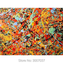 Hand Painted Jackson Pollock Abstract Oil Painting Wall Art Canvas Color Modern Home Decoration Pictures