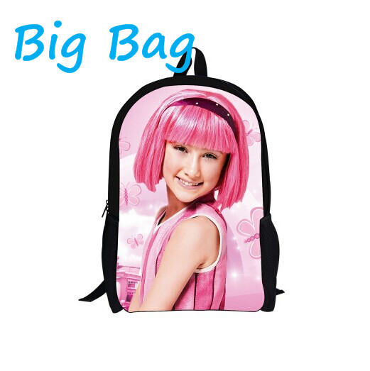 9ee96d862a 2016 New Fashion Printing Lazy Town Children s Backpack Cartoon Bag Kids  Character Backpack High Quality Fancy School Bag