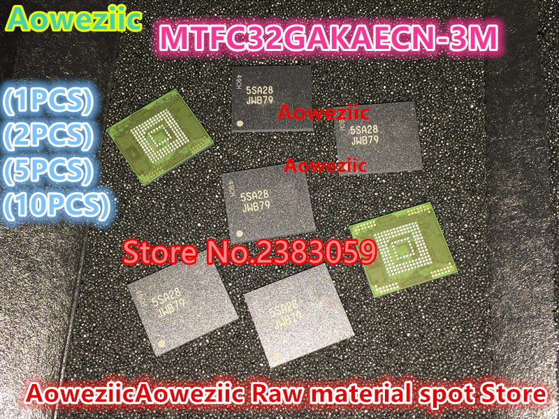 где купить Aoweziic (1PCS) (2PCS) (5PCS) (10PCS) 100%New original MTFC32GAKAECN-3M MTFC32GAKAECN JWB79 BGA memory chip по лучшей цене