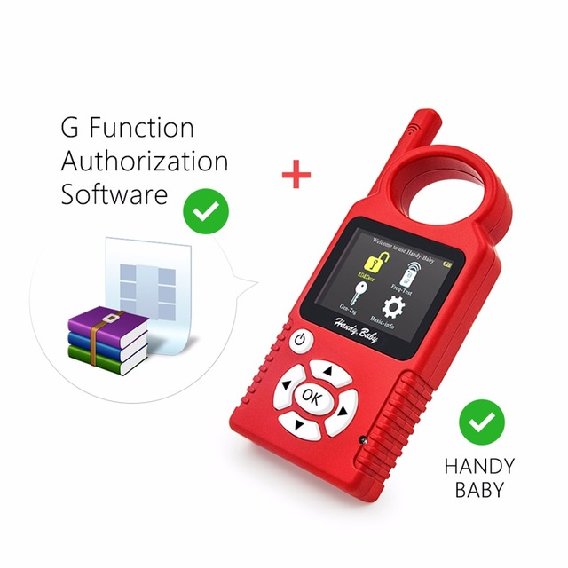 Hot!!!Handy Baby Hand-held V8.0 Car Key Copy Auto Key Programmer for 4D/46/48 Chips Plus G Chip Copy Function Authorization