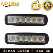 "Germany stock no tax 2 PCS 6"" Inch 18w led work light Spot Flood 12 volt single row mini led light bar for truck tractor 4x4 car"