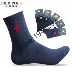 5 pairs lot pier polo brand men socks embroidery winter man socks cotton high quality sheer.jpg 250x250