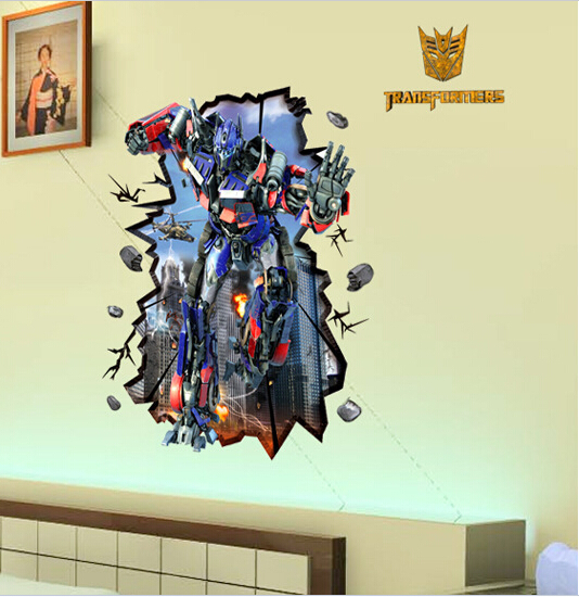 Creative 3D Effect Sentinel Prime Wallpaper Children\'s Room Decal ...