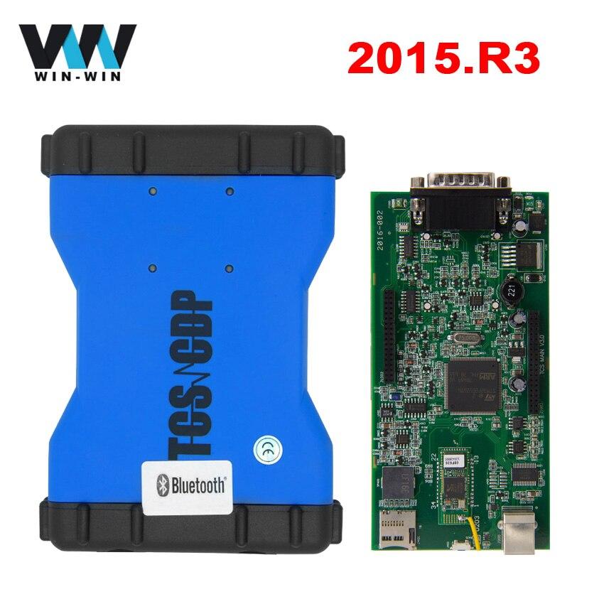 Prix pour 2015. R3 TCS CDP Pro Bluetooth NEC Japon Relais 2014.2 Livraison Keygen OBD2 OBD Scanner Outil De Diagnostic pour les Voitures/Camions TCSCDP 3 en 1