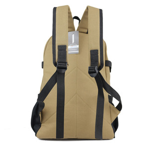 Image 5 - Chuwanglin Fashion leisure mens backpack designer travel bag strap zipper solid color casual canvas backpack school bag ZDD5194