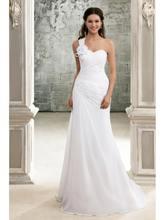 Свадебное платье на одно плечо ensotek новые свадебные платья