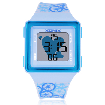 Cartoon Kids Sport Watches LED Electronic Digital Watch Women 100M Waterproof Diving Sport Watches For Children Wristwatch  HB 1