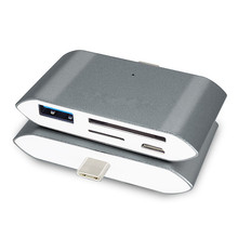 Купить с кэшбэком Type-c Reader Micro SD Card/Memory/TF Card Reader Multi-function USB 3.0 USB 2.0 Flash SD Adapter with LED Light
