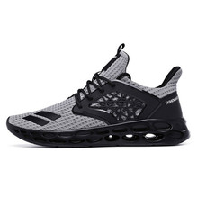 Spring Men's Shoes Running Shoes Low To Help Mesh Cloth Fashion Large Size Lightweight Casual Jogging Sports Shoes Hollow Bottom