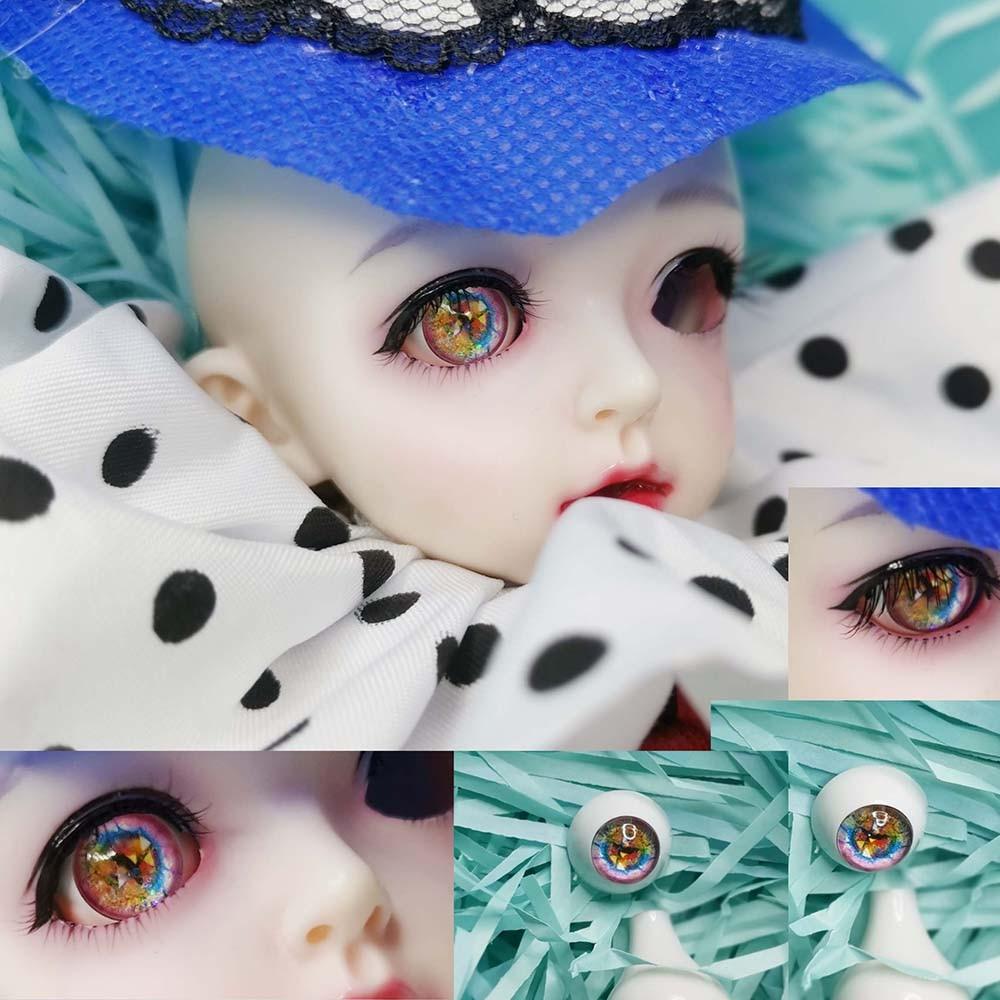 Iris 8mm Glass Stript BJD Eyes for 1//6 BJD Doll New Colorful Sea Blue