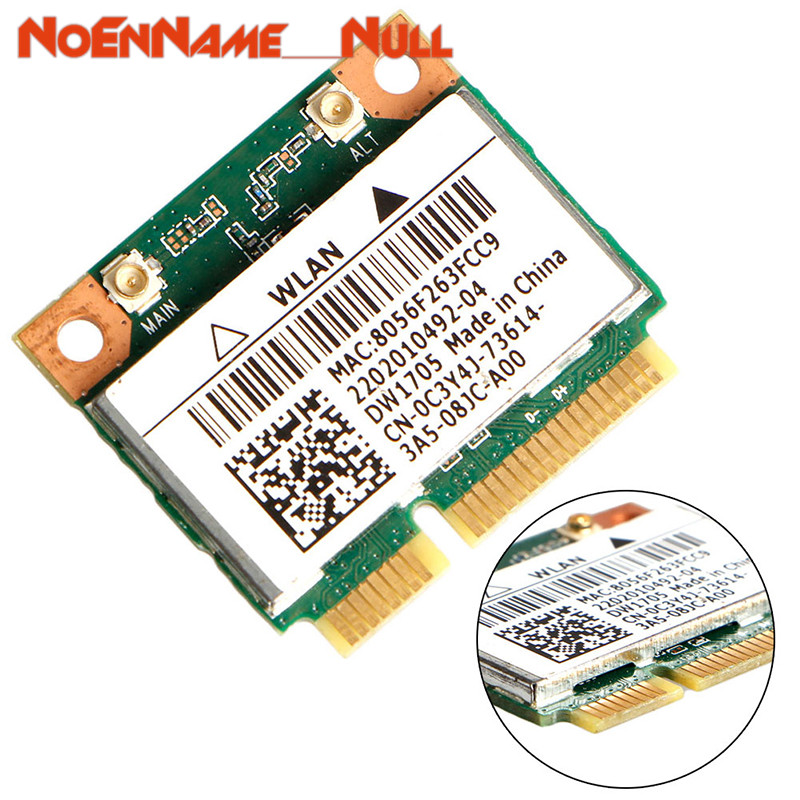 Network Card Wifi Adapter Intel Qualcomm Atheros QCWB335 Wifi Mini Wireless Card CN-0C3Y4J For Dell DW1705 Dropshipping