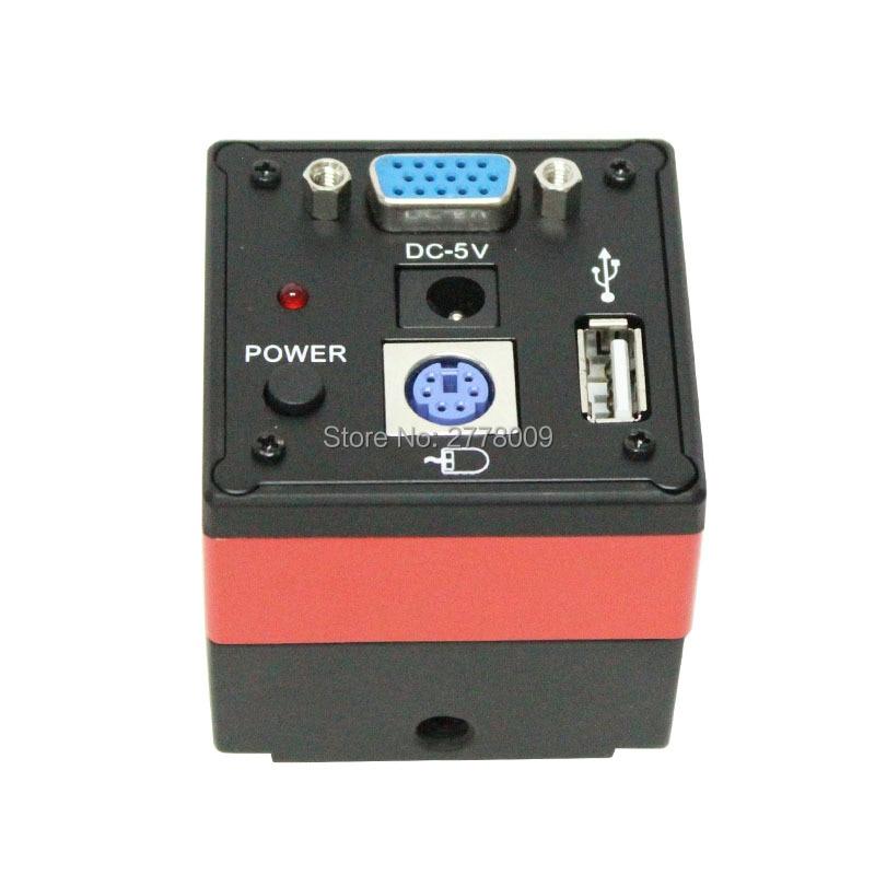 Livraison gratuite VGA HD caméra numérique industrielle 60FPS avec U disque souris mesure Microscope caméra Photo vidéo