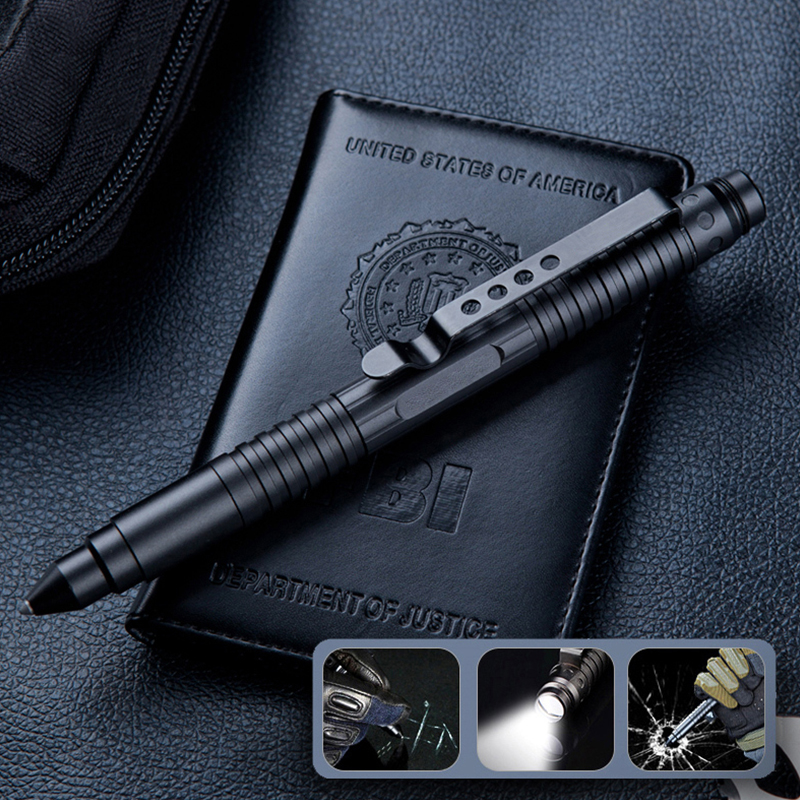 EDC Tool Outdoor Self-defense Tactical Pen Tungsten Steel Portable Defense Pen Self-defense Window Breaker Military Fan Supplies new tactical pen self defense aluminum ball point pen with tungsten steel head glass breaker outdoor edc tool gift box
