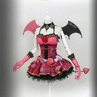 Love Live Honoka Kotori Umi Eli Nozomi Maki Rin Hanayo Nico Devil Ver Cos Dress Cosplay