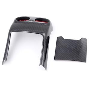 Image 5 - Carbon Fiber Auto Hinten Air Conditioner Outlet Vent Abdeckung Trim Für Mercedes E Klasse E200 E320 E260 E300 E350 Auto zubehör
