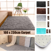 160*230cm Large Shaggy Rugs Silk Carpet Living Room Modern Hotel Mats Bedroom Decorative Carpets Anti slip Floor Mat Door Soft