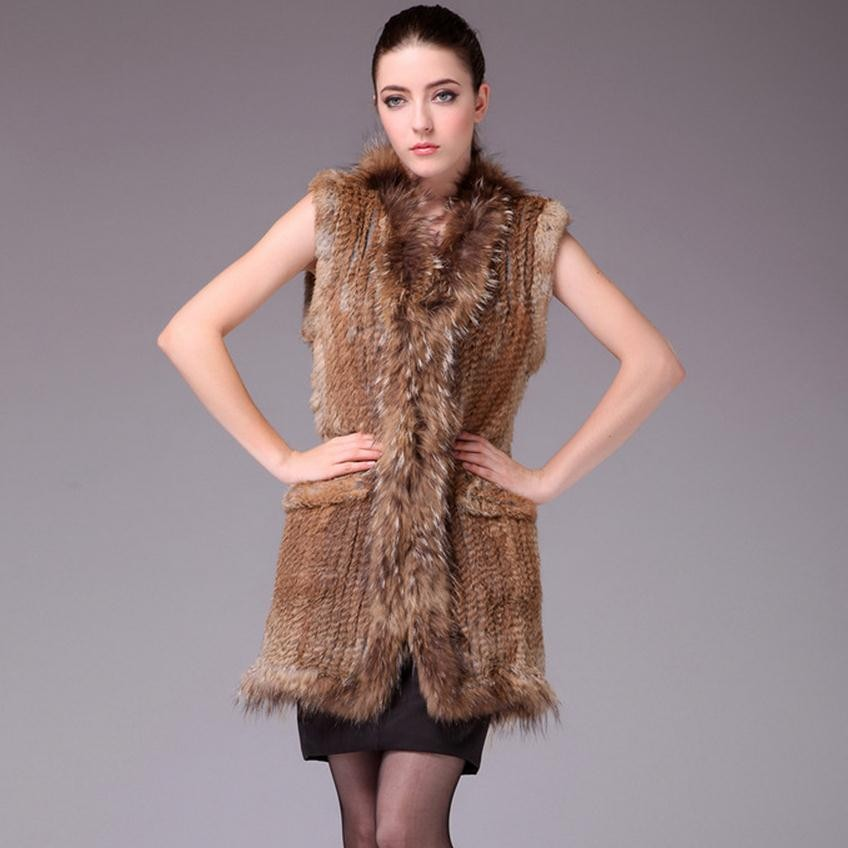 Et 1 En Veste Femmes Lapin 3 Raton Pardessus Tricoté Fourrure Réel Capot Col 2 Véritable Sans Laveur Poche Vêtement m8wPNOn0yv
