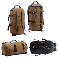Men's Canvas Backpacks 32L Extra Large Travel Bag Rucksack Backpack Men Shoulder Bags Bookbag Double Use
