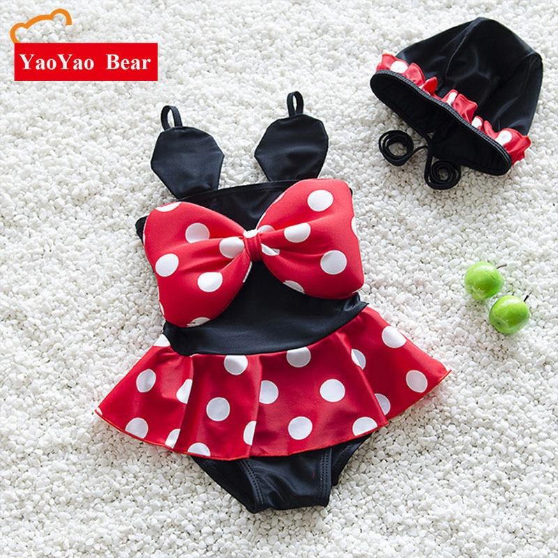 Meisjes badmode bikini badpak voor mooie cartoon muis Baby kinderen - Babykleding