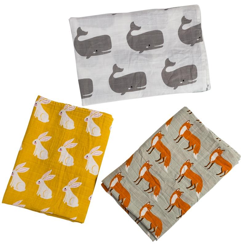 Baby Wrap Organic cotton muslin baby blanket,Multifunctional Muslin Baby Newborns Blanket Baby Swaddle Blanket 120*120cm