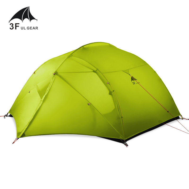 Image 2 - 3F UL GEAR 3 Person Camping Tent 15D Silicone 210T Outdoor Ultralight Hiking Waterproof With Ground SheetTents   -