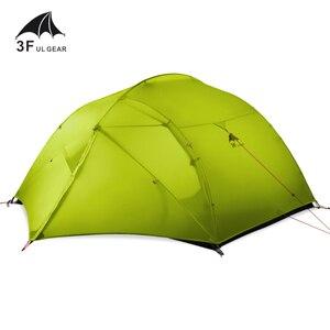 Image 2 - 3F Ul Gear 3 Persoon Camping Tent 15D Siliconen 210T Outdoor Ultralight Wandelen Waterdicht Met Grondzeil