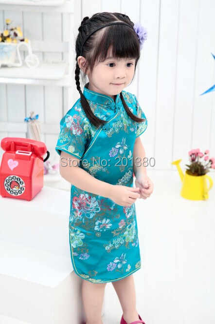 5f8a52359e ... 2019 Cute Girls  summer Dresses Kid Chinese chi-pao cheongsam New Year  gift Party ...