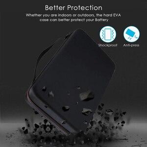 Image 2 - 146 Pcs Draagbare Hard Shockproof Eva Aa/Aaa/C/D/9V Batterij Case Box Storage organizer Houder Voor Tester Extra Ruimte Voor Lader