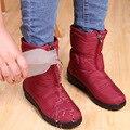 2016 Marca Mulheres Botas de Inverno Quente Botas de Neve Quente, mulheres Tornozelo Botas Flat Térmicas Slip-Resistente À Prova D' Água Sapatos Outwear Nova