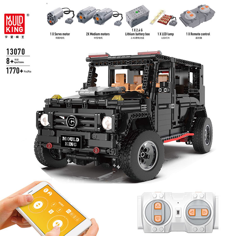 RC Car 13070 Compatible With IegoSet Technic Series MOC 2425 Banz G500 AWD Wagon Building Blocks