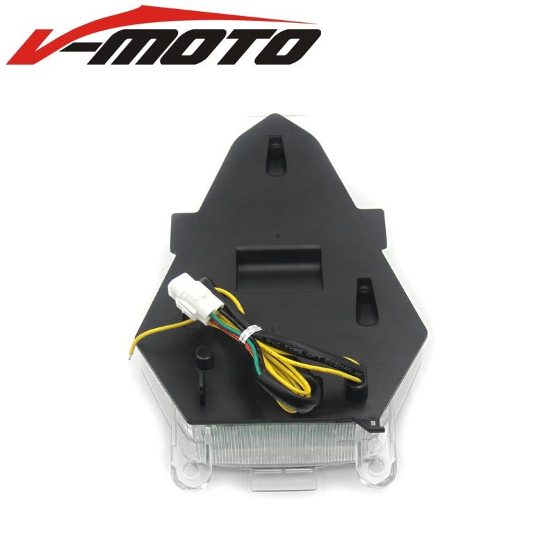For YAMAHA YZF R6 RJ15 2008 2009 2010 2011 2012 2013 2014 2015 2016 Tail Light Brake Turn Signal Integrated LED Light