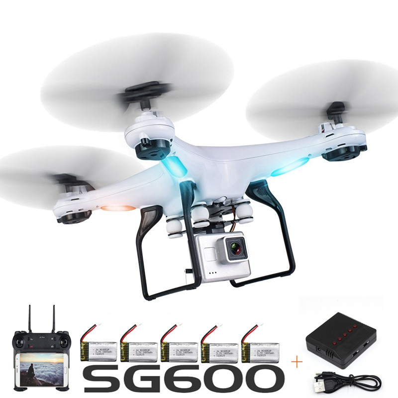 SG600 Rc Drone With Camera Wifi Fpv Quadcopter Auto Return Altitude Hold Headless Mode Rc Helicopter Toys For Kids Selfie Drone hr sh2hg rc drone fpv quadcopter headless mode optical flow positioning rtf helicopter selfie with 1080p wifi camera
