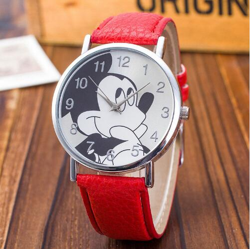 Skmei Fashion Watches Children Women Ladies Girl Leather Quartz Watch Kids Wrist Watch Clock Cartoon Female Relogio Feminino