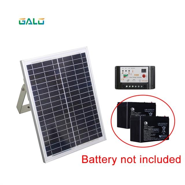 DC SOLAR POWER AUTOMATIC SLIDING DOOR GATE OPENER with 4m Nylon racks 1 flash light 1 pair of photocells 6