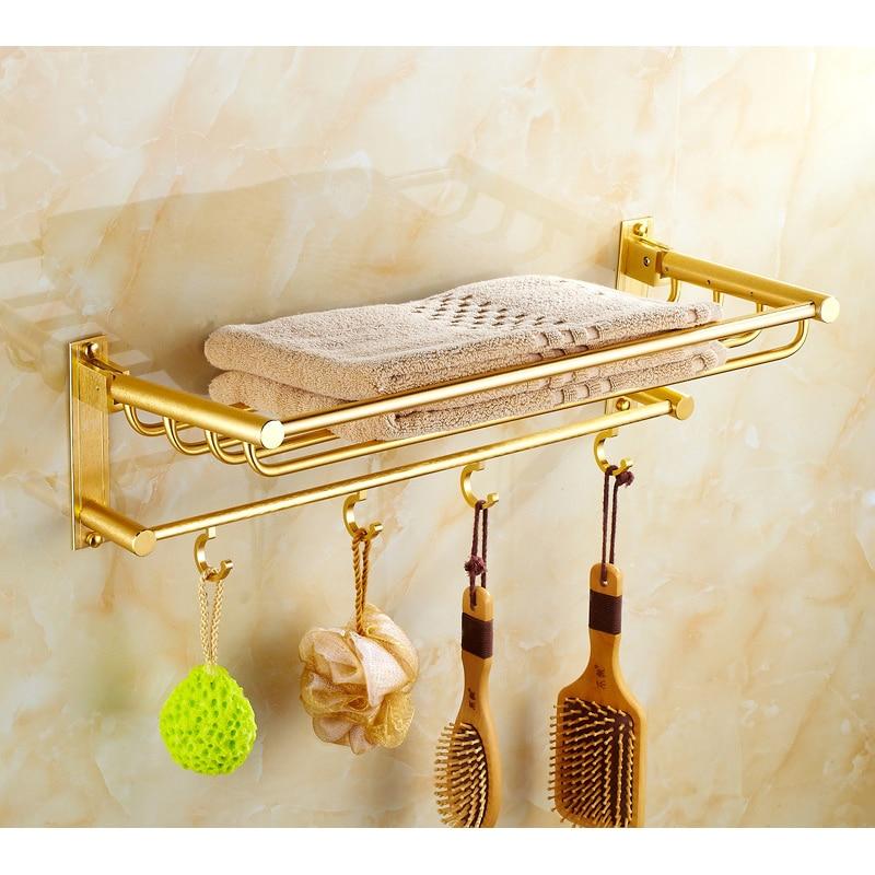 European towel racks tyrant gold bathroom space aluminum bathroom accessory hardware bathroom towel rack ICD60029 bathroom towel rack space aluminum bathroom hanging racks hotels folded bar hook