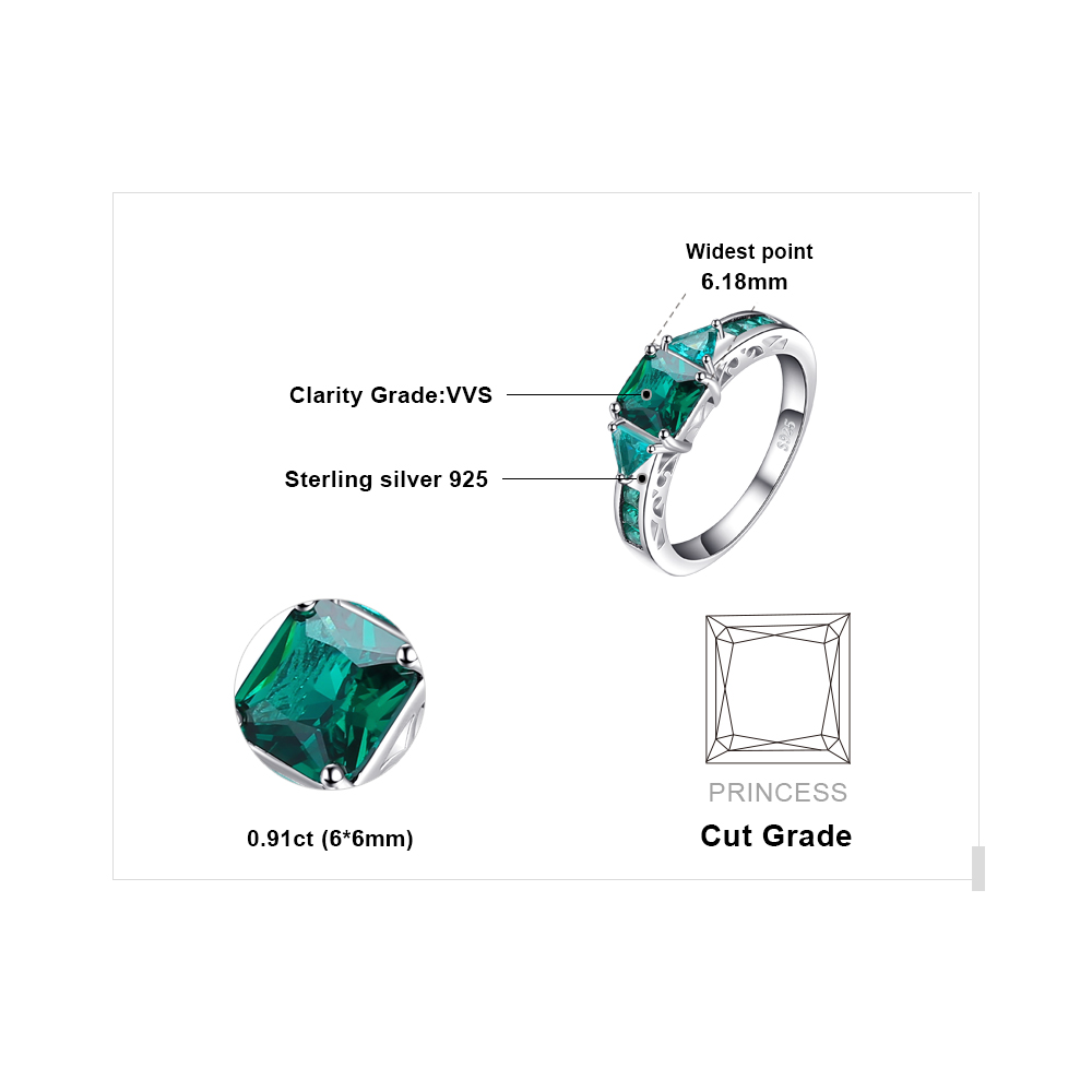 JewelryPalace Caved 1.3ct Nano Russian Simulated Emerald Statement - Նուրբ զարդեր - Լուսանկար 5