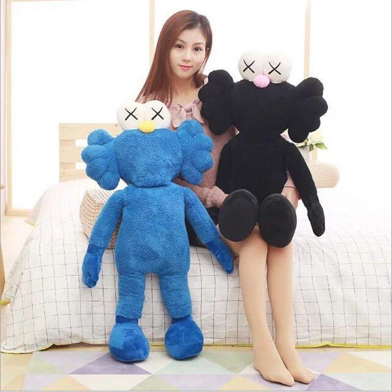 Criativo Bonito Dos Desenhos Animados do Anime de Pelúcia Boneca Brinquedos De Pelúcia Azul Preto Suave Plush Doll Toy Crianças Brinquedos Amigos Presente
