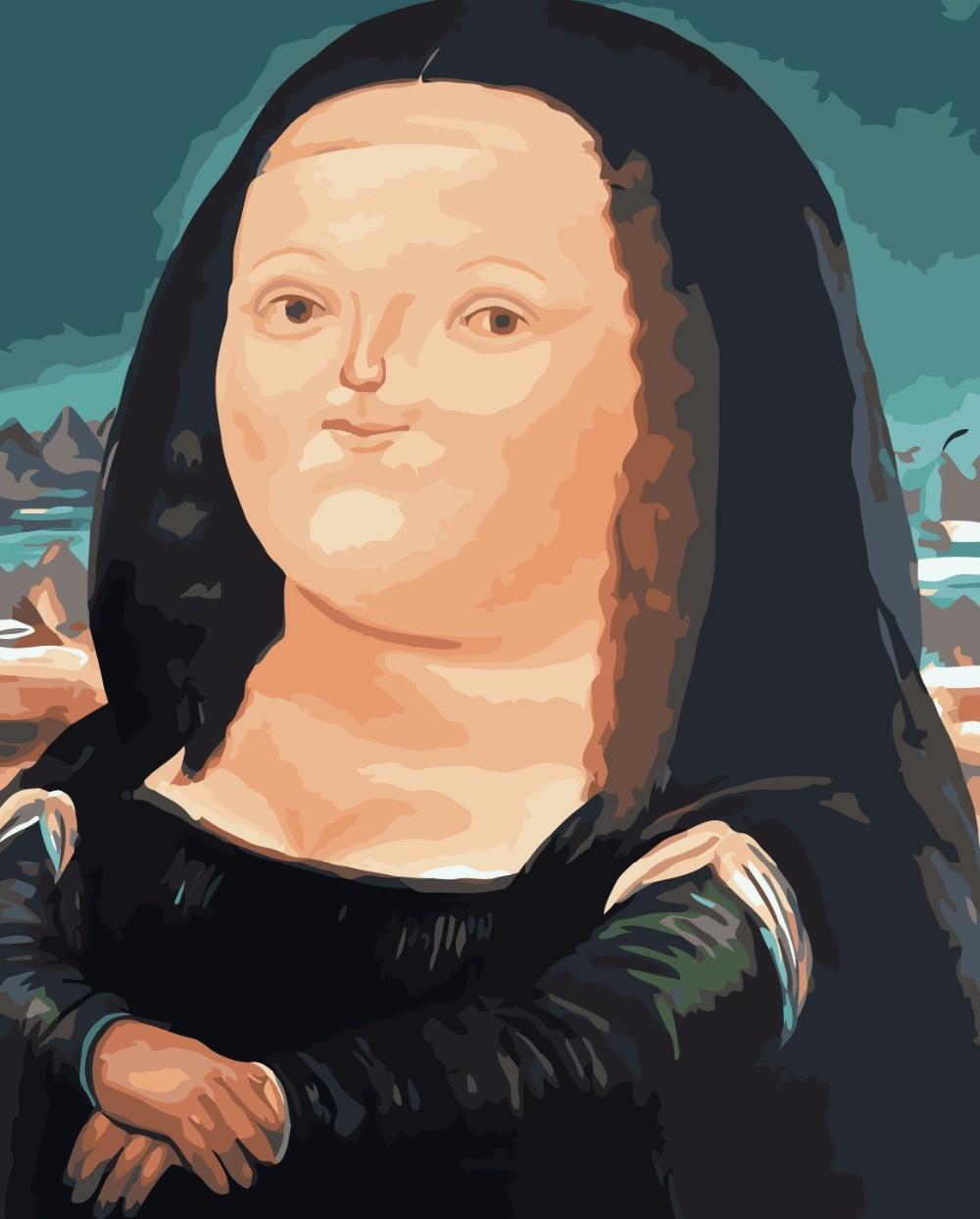Sin marco Pintura Al Óleo de DIY Por Números Lindo Mona Lisa Pintura ...